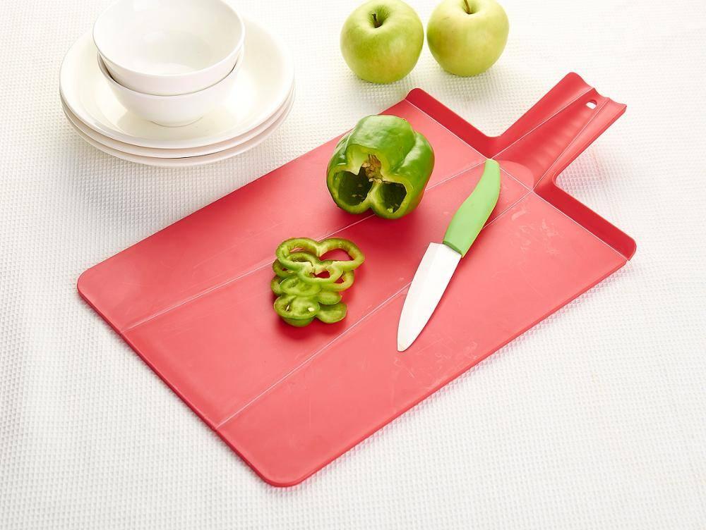 Plastic Kitchen Folding Cutting Board Spade Shape Chopping Board Vegetable & Fruit Cutting Board