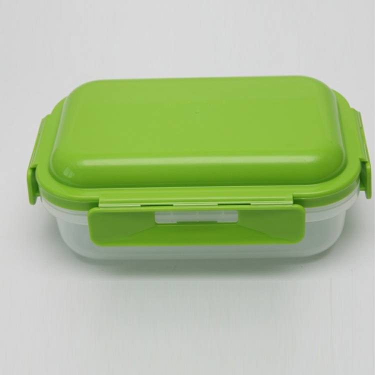 BPA free Crisper Microwave Freeze Lunch Box with cool pack inside the lid