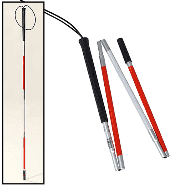 Blind folding cane with wrist strap Featured Image