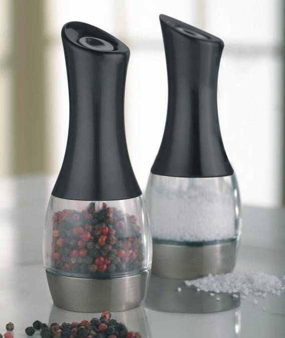 Electronic plastic salt and  pepper mill with Battery