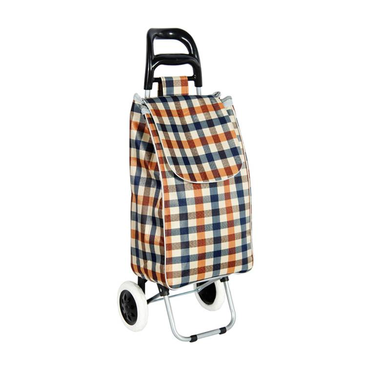 Bigger Trolley Dolly, Silver Chevron Shopping Grocery Foldable Cart