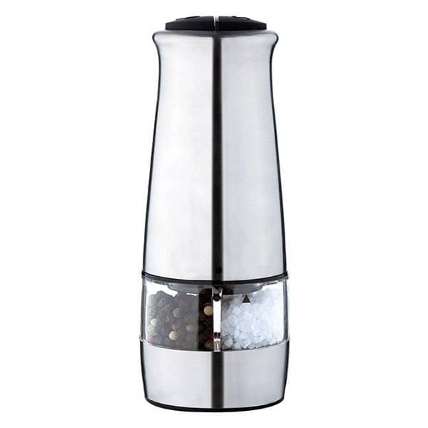 Stainless steel with  2 in 1 electric salt and pepper mill Featured Image