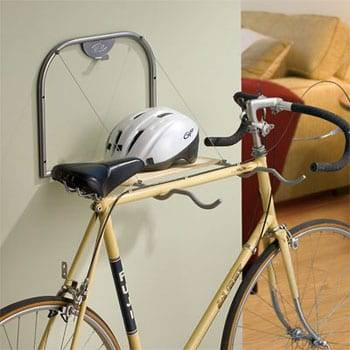 WALL MOUNTED HANGING 2 BIKE FOLDING RACK