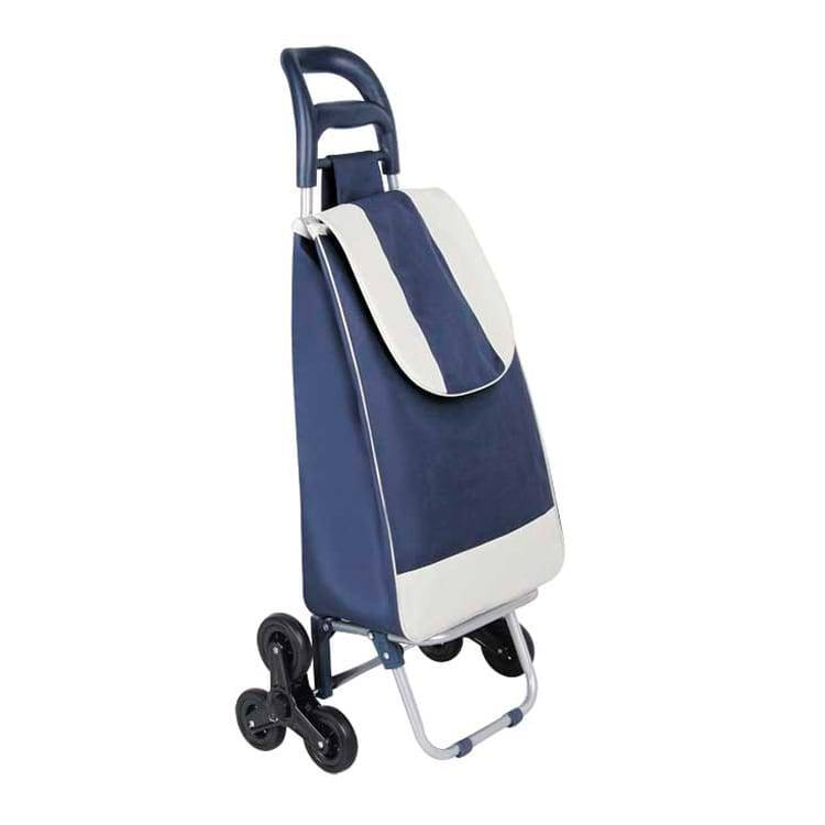Polyester Folding Shopping Trolley Mini Shopping Cart Foldable Shopping Trolley