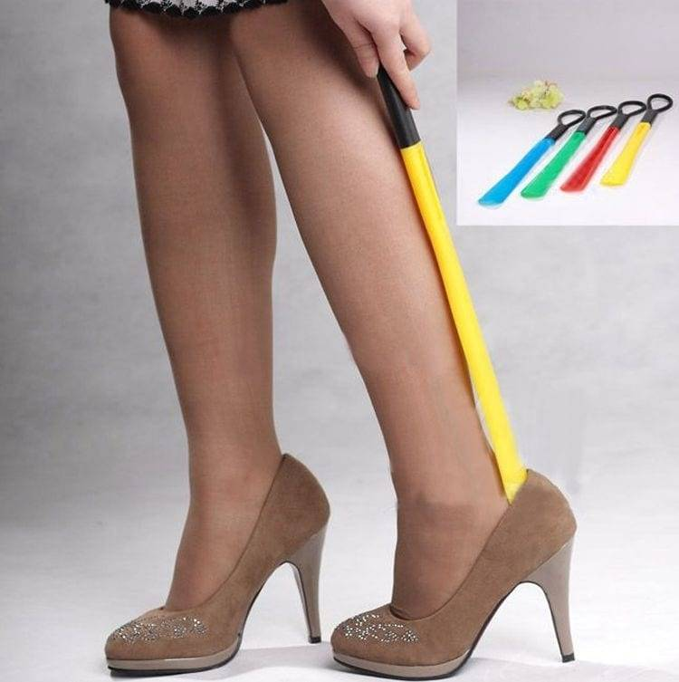 Colorful advertising plastic shoehorn