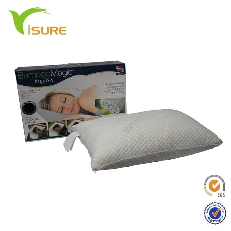 Miracle Original Bamboo Shredded Memory Foam Pillow, Shredded Memory Foam Pillow with bamboo pillow Cover