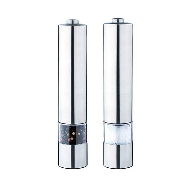 Tinplate Can Rechargeable Ceramic Salt And Pepper Grinder Mills Set -