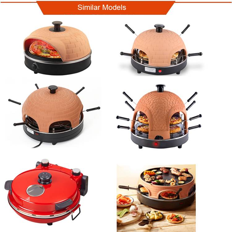 Professional 8 person home electric round pizza dome oven mini