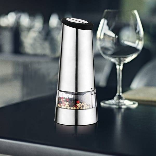 Stainless Steel electric salt and pepper mill 9544 Electric pepper mill with light