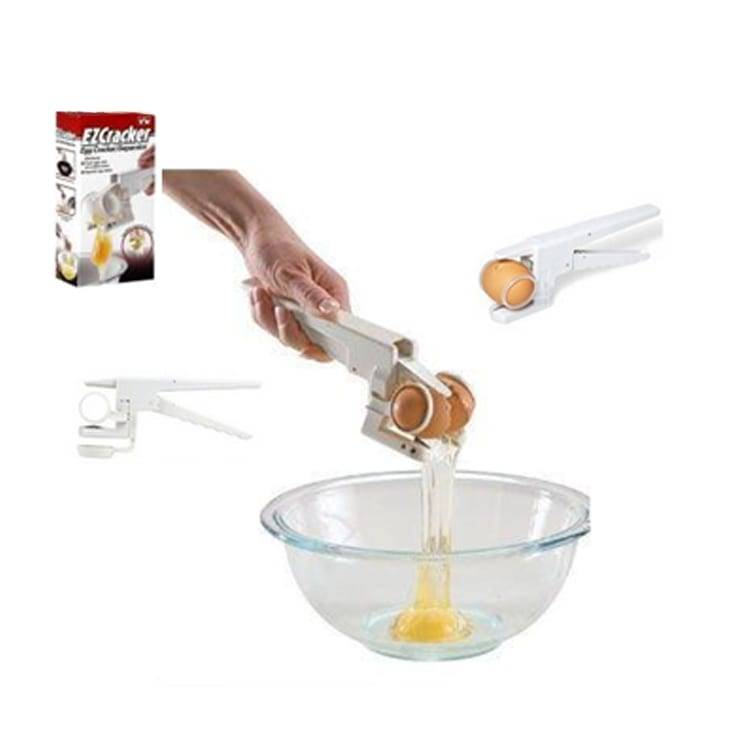Easy Design EZ Cracker Egg Cracker Separator Egg Cutter