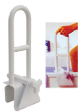 Coated Steel Material Stationary Safety Bathtub Grab Bar For Elder