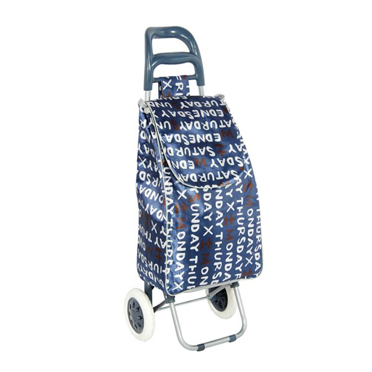 Lightweight Personal Foldable Shopping Trolley Bag Supermarket Grocery Folding Shopping Cart