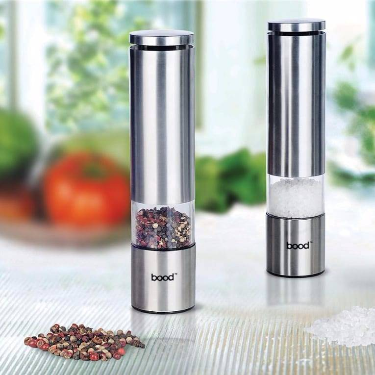 Pre_Painted Steel Plate Electric Salt And Pepper Grinder Set -