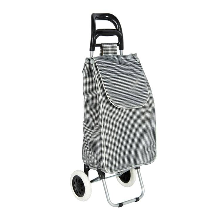 Bigger Trolley Dolly, Silver Chevron Shopping Grocery Foldable Cart Featured Image