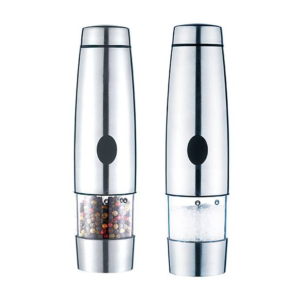 LFGB FDA Certificated Rechargeable Stainless Steel Pepper Grinder 9531 Electric Salt and Pepper Mill
