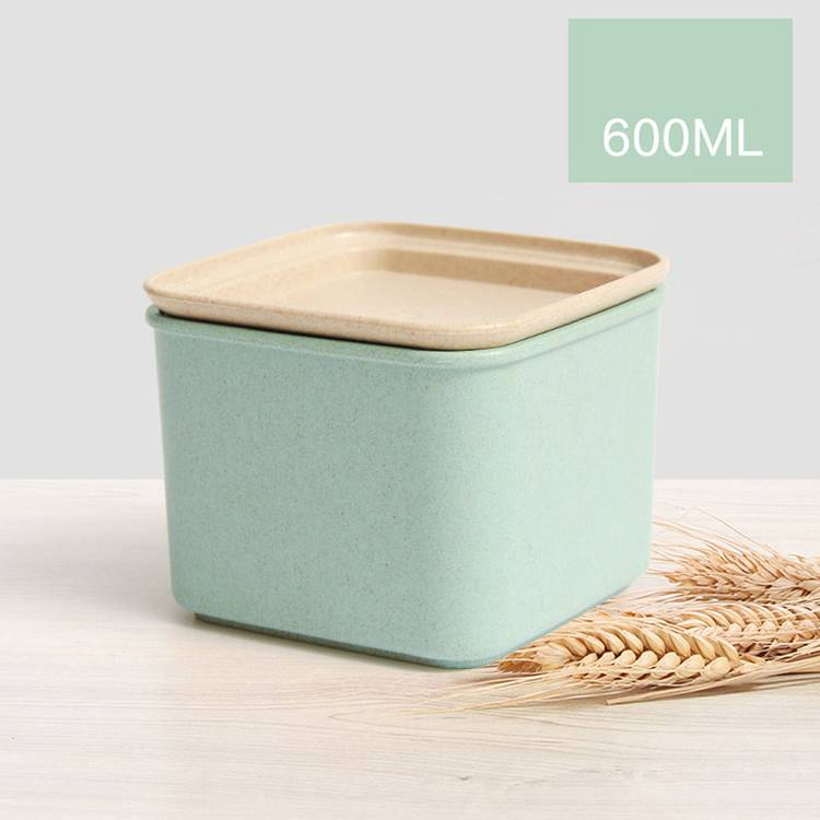 600ml Wheat Straw Airtight Food Container Coarse Cereals Candy Storage Containers Airtight canister For Food