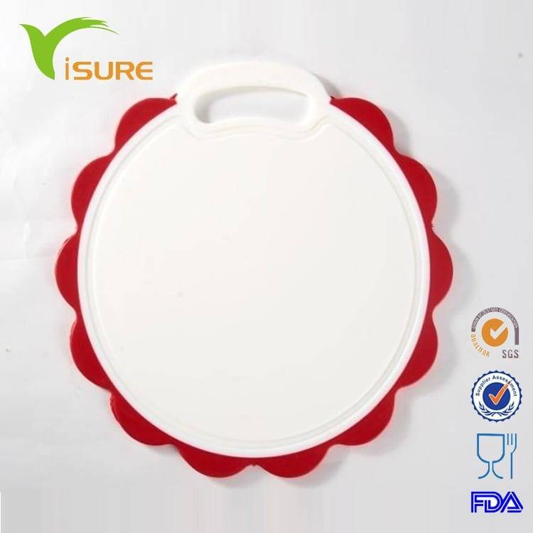 Colorful Plastic Round Circle Cutting Board Injection Molding Upset Thickness Chopping Board Flower Shape Cutting Board