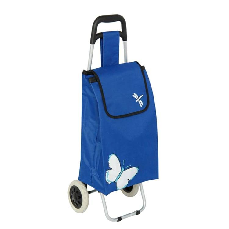 Portable Folding Dolly Trolley / Grocery Metal Foldable Luggage Shopping Cart