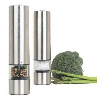 Hot sale Stainless Steel Electric Salt and Pepper Mill Grinder