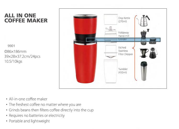 All In One Manual Coffee Grinder Machine
