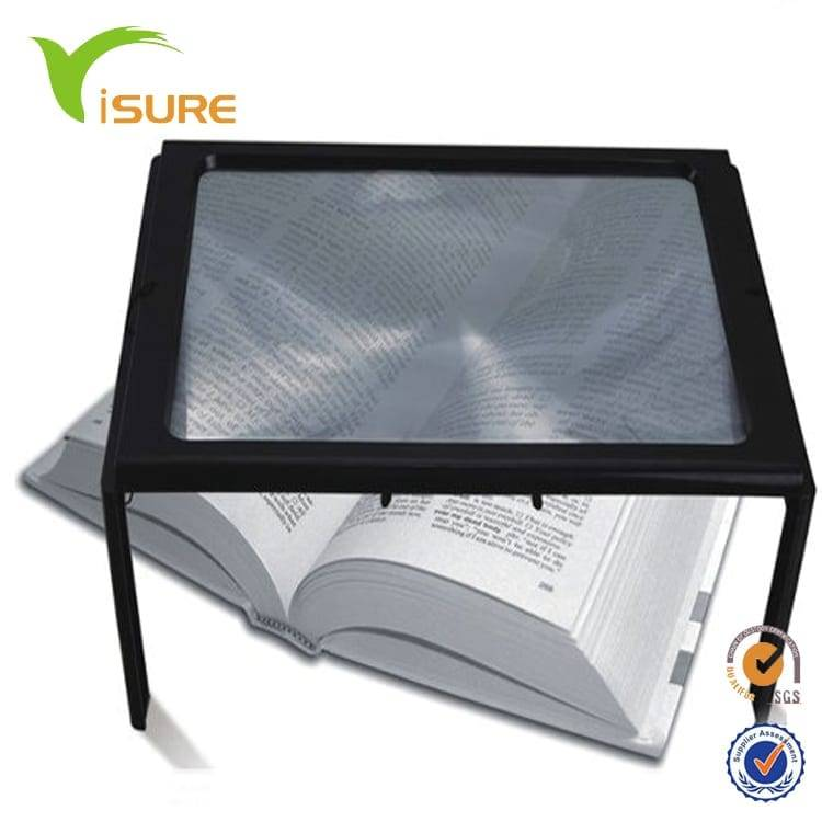 Full Page Reading Magnifier with LED with Stand