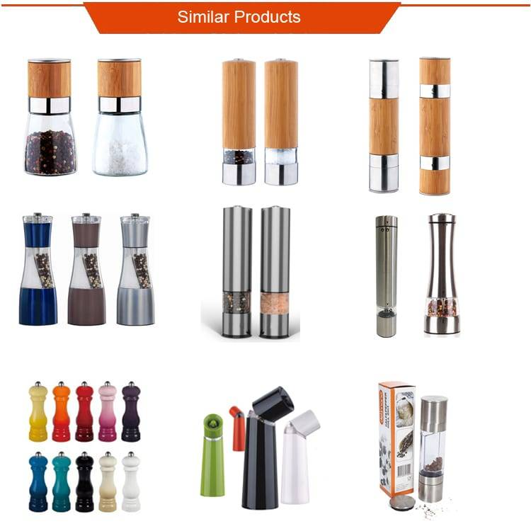 Rechargeable salt pepper mill set 9531B Electric Pepper Mill Set