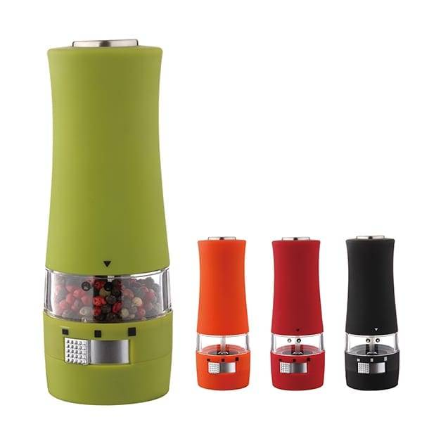 Electric colorful salt and  pepper mill with light