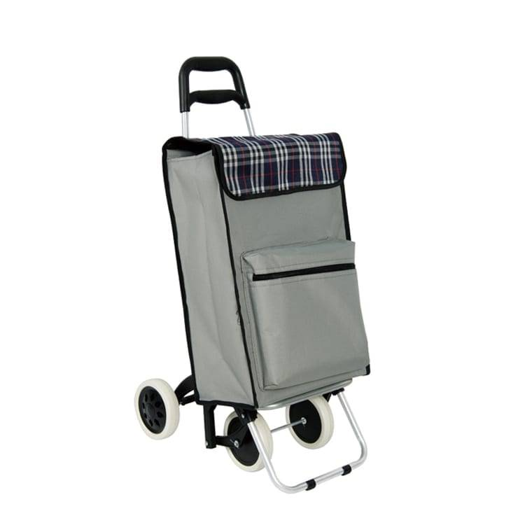 Four wheel shopping trolley with bag  for market
