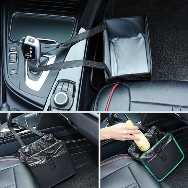 Hanging Car Trash Bag Can Premium Waterproof Litter Garbage Bag Trash Bin