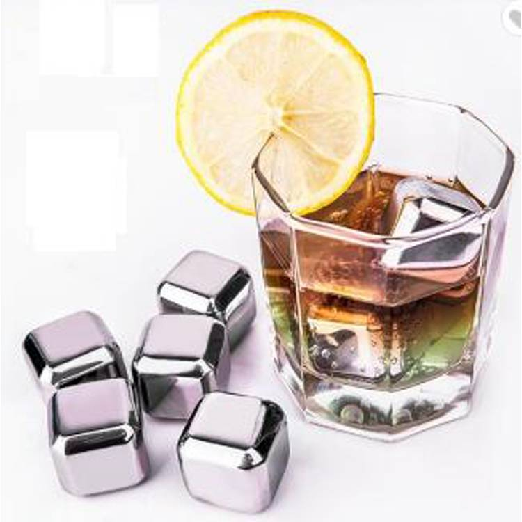 2018 Amazon Top Seller Food Grade Stainless Steel Whiskey Stones Cooling Wine Ice Cubes