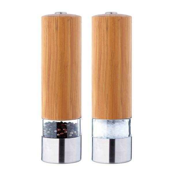 Electric stainless steel salt and pepper grinder 9511 bamboo salt and pepper grinder set stainless steel Featured Image