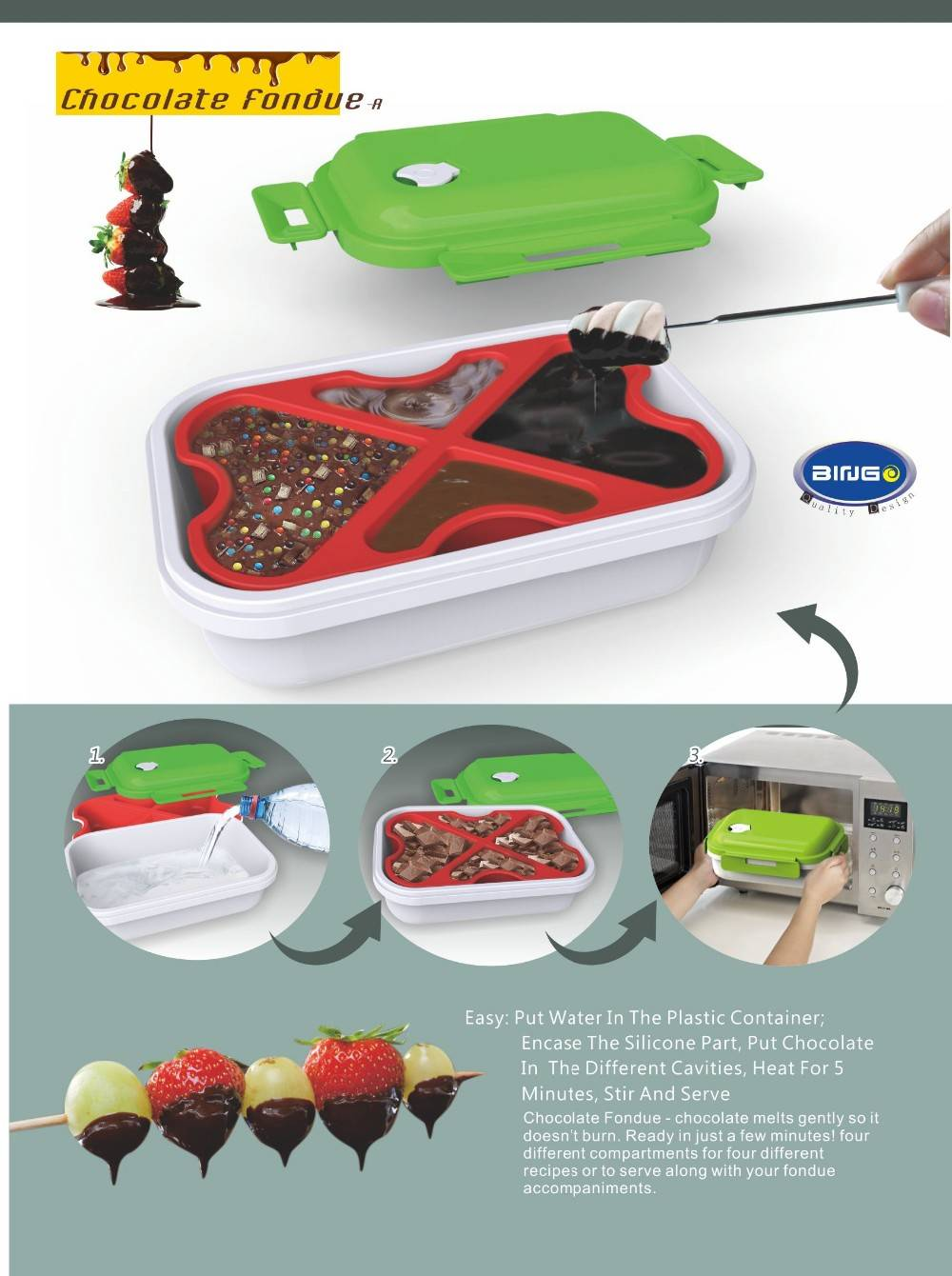 Chocolate Fondue Heat preservation box