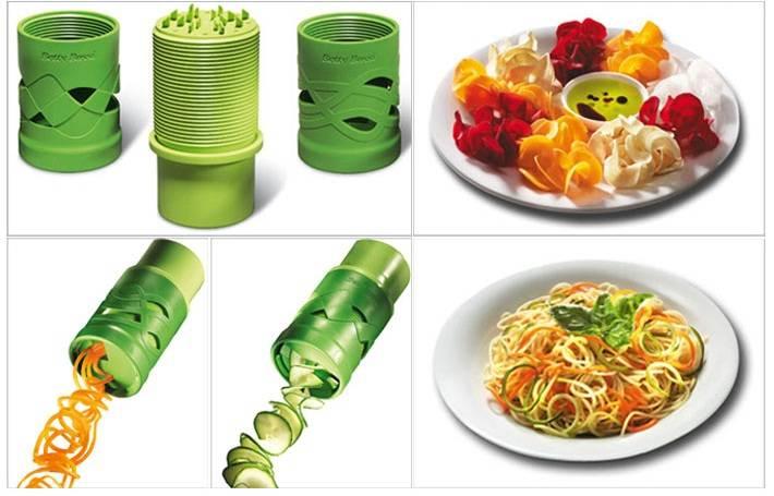 Plastic Cucumber Slicer Vegetable Grater Cucumber Double-Side Slicer Kitchen Tools