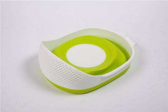 Plastic Foldable Collapsible Strainer Vegetable Strainer And Mixing Bowl