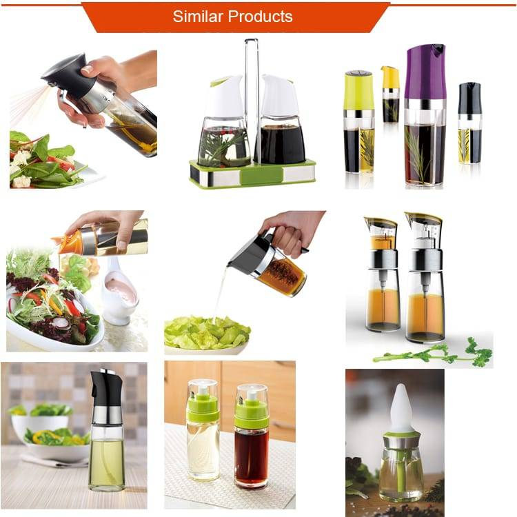 Amazon Hot Selling Olive oil spraying bottle Sprayer and Cooking Dispenser