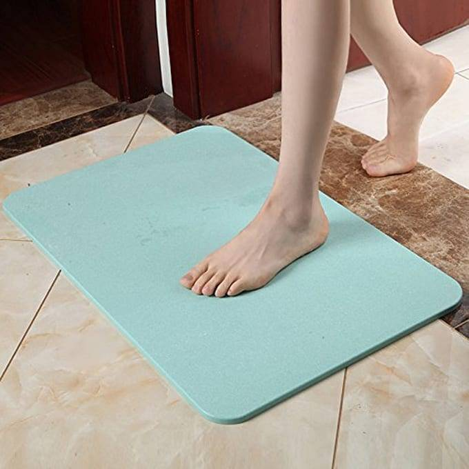 Supply OEM/ODM 39x60cm Natural Diatomite Strong Water Absorption Ground Mat Anti-slip Deodorant Foot Pad Diatomite Bath Mat