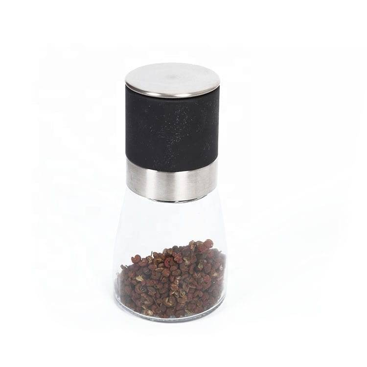 Black Anodized Aluminum Sheet Pepper Bottle -