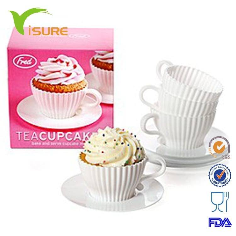 4pc Silicone Afternoon Tea Cup and Saucer