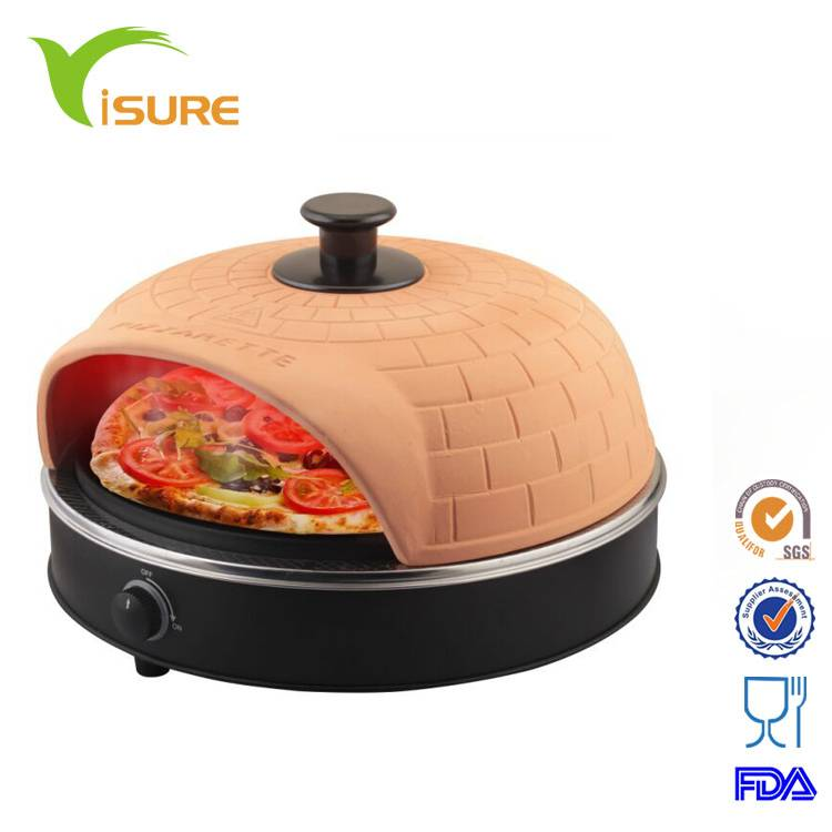 Square terracotta mini pizza oven 4 person pizza oven electric