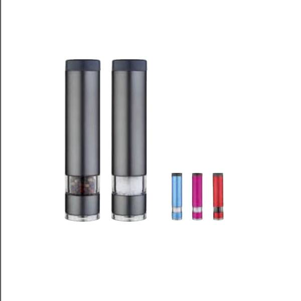 Stainless Steel Electric Salt and Pepper Mills with light