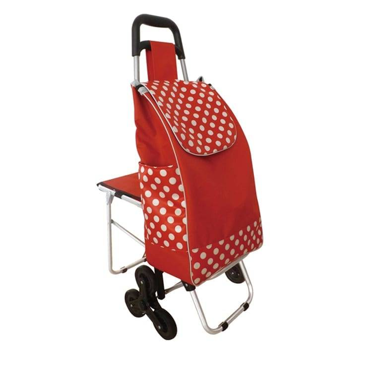 Lightweight Folding Shopping, Grocery, Utility Trolley, Foldable Cart, Rolling Push Dolly with Tote