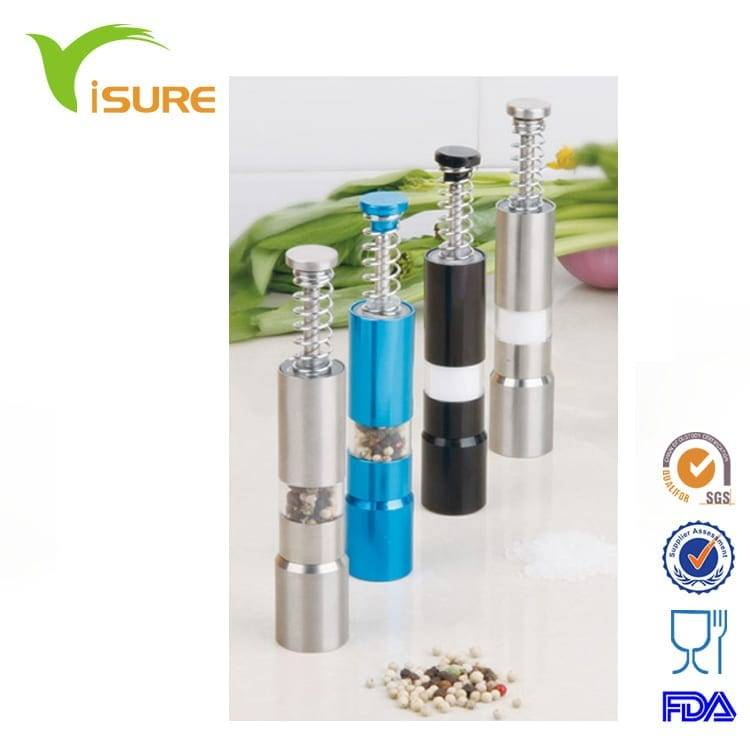 color salt and pepper mill  & Spice Mill& push type of pepper mills