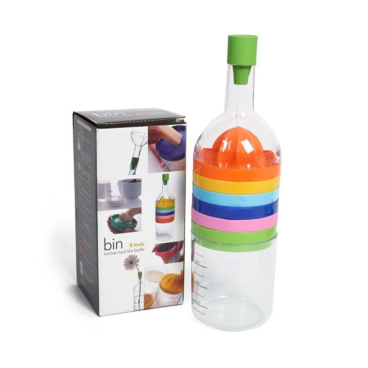 Multi-function Kitchen Tool Colorful Plastic Juicer Maker Juicer Tools Set
