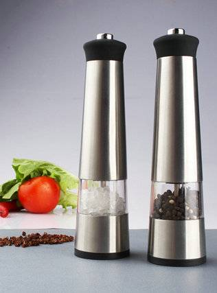 Hot amazon cheap price electric pepper mill with light Electric Pepper Mill