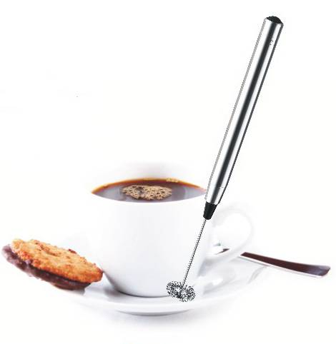 High Quality Food Safe Handheld Automatic One Touch Electric Milk Frother Pen Kitchen Battery Operated Coffee Whisk