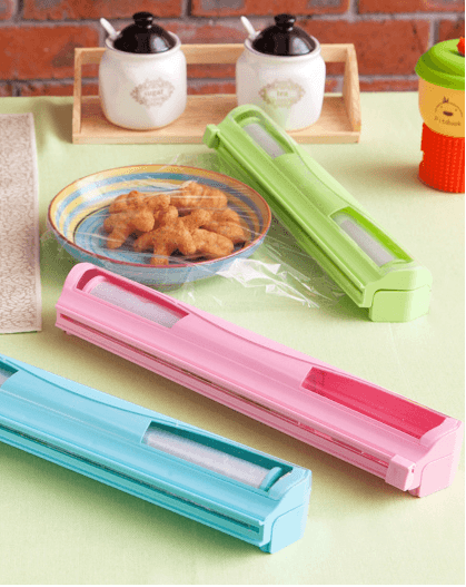 Food Safe Colorful Plastike Wraptastic Cling Film Cutter