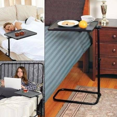 Swivel Adjustable Laptop Table Over Bed Tray Table Featured Image