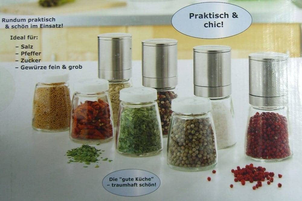 Tinplated Metal Sheets Plastic Pepper Mill -