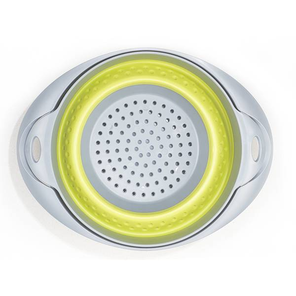 2 in 1 Silicone Foldable Collapsible Strainer Vegetable Collander And Mixing Bowl