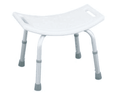 Aluminum White Bathroom Shower Chair For Elders